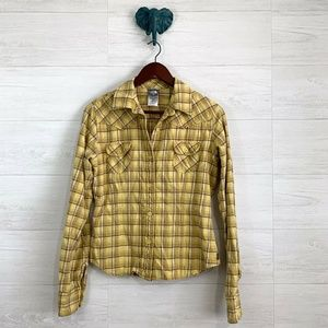 The North Face A5 Series Yellow Flannel Shirt